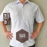 Baju Kemeja Putih TANPA PANGKAT PDH ASN PDL PEMDA SERAGAM Drill