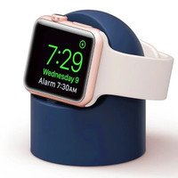 Apple Watch Charging Station Sillicone Dock holder cable Stand Silikon - MIDNIGHT BLUE