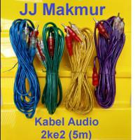 Kabel RCA Jack konektor 2k2 utk speker 5m - Audio Cable for speaker
