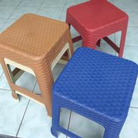 BANGKU ROTAN PLASTIK - KURSI BASO PLASTIK MOTIF ROTAN