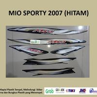 Mio sporty 2007 (hitam) List Striping Stripping Stiker Sticker