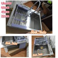 LARIS Bak Cuci Piring Set westafel 60 x 45 kitchen Sink Set