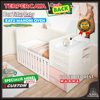 Tempat tidur bayi kayu jari laci, ranjang anak bayi minimalis,box bayi