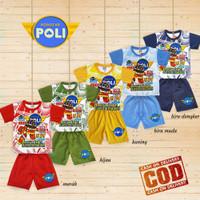 BAJU ANAK COWOK OBLONG type CO-OBL-011- ROBOCAR POLI - Kuning, 4