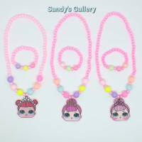 Mainan anak perempuan - Kalung anak LOL + Gelang (1 Set)
