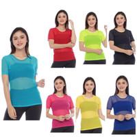 Atasan Baju Senam Wanita Aerobik Gym Zumba Atasan Tile Warna