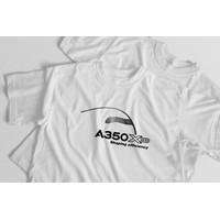 Official A350 XWB - T-Shirt Aviasi Pesawat Airbus - Premium Cotton