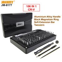 Jakemy 106In1 Obeng Set HP T2 T5 T6 Pentalobe P2 P5 Bintang 5 T8H T9H