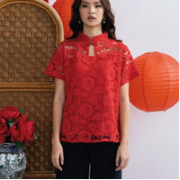 Baju Cheongsam Wanita Atasan Imlek Baju Imlek PAOPAO TOP Bahan Lace