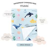 Mooi waterproof changing pads perlak anti ompol (REGULAR) - TRACTORS