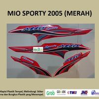 Mio sporty 2005 (merah) List Striping Stripping Stiker Sticker