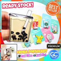BOBA PopSocket Bubble Milk Tea 3D popsocket Water Quicksand
