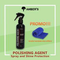 Amber's Polishing Agent 250 ml Glossy Shiny Pengkilap Mobil Helm Motor