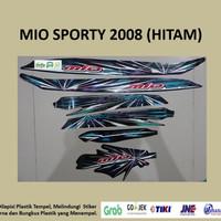 Mio sporty 2008 (hitam) List Striping Stripping Stiker Sticker