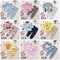 Piyama baju tidur anak import cewek cowok motif CC