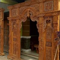 Pintu Rumah Gebyok Ukir Kayu Jati