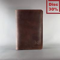 Mekafa Gearsion Dark Brown Wallet - Dompet Kulit Pria Berkualitas