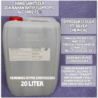 Hand Sanitizer 20 Liter dengan Isopropyl Alcohol 75%, Ijin Kemenkes RI
