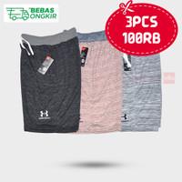Paket 3pcs Celana pendek Babyterry soft cotton polos Variasi