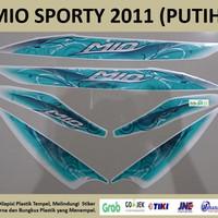 Mio Sporty 2011 Putih Motor Yamaha Stiker Striping Stripping Sticker