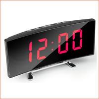 Jam Meja Digital Led Weker / Digital Alarm Clock Mirror DT-6507 RED