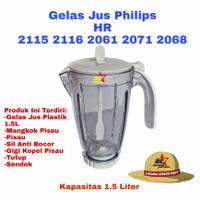 Gelas jus Blender philips hr 2115 2116 2061 2071 1 set