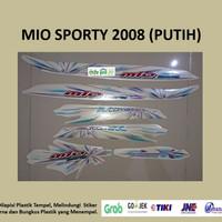 Mio sporty 2008 (putih) List Striping Stripping Stiker Sticker