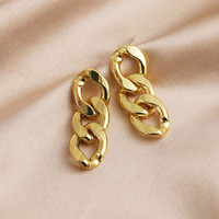 anting bentuk rantai chain female earrings jan225