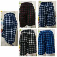 Celana Pendek Lena Hotpants Jumbo Batik Casual Wanita