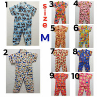 Baju tidur anak cewek dan cowok / piyama anak size 1-5