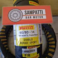 Ban Motor Pirelli Diablo Rossa Sport Uk. 90/80 Ring 14 Tubeless