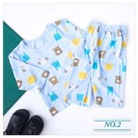 baju tidur anak laki laki setelan crop 7/8 usia 1-5T kualitas terjamin