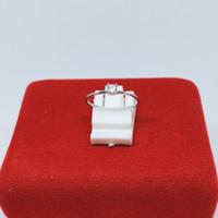 cincin mata satu dewasa silver/perak 925 lapis emas putih M1