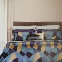 Bed Cover dan Sprei Katun Jepang Cubic Stone