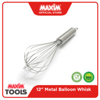 Maxim Tools Metal Ballon Whisk 12 Inch - Pengocok Telur / Adonan
