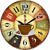 Wall Clock / Jam Dinding Vintage Coffee / Jam Dinding Unik Retro Style