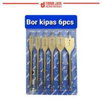 Mata bor kayu KIPAS 6 pcs Flat wood drill bit woodworking skls benz