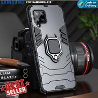 Case Samsung A12 Transformer i Ring Stand Magnetic Holder Hardcase