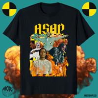 Kaos Pakaian Asap Rocky Unisex Rap Tee T Shirt Protohype baju Rapper