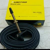 ban dalam sepeda fixie 700 x 23/28c united pentil kecil/presta fv 60mm