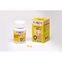VITAKIDS - Vitamin C 50mg Untuk Anak Rasa Jeruk isi 30 Tablet Hisap
