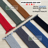 Strap Apple Watch NYLON BRAIDED SOLO LOOP Tali Seri SE 6 5 4 40mm 44mm
