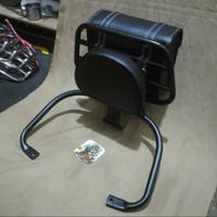 Back Rack Vespa LX & S plus tas bag hitam/ aksesoris vespa