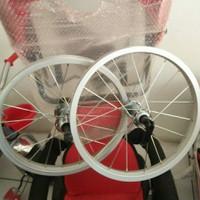 Rim Velg Wheel set sepeda ban ukuran 16 Silver Doff