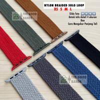 Strap Apple Watch NYLON BRAIDED SOLO LOOP Tali Seri 3 2 1 38mm 42mm