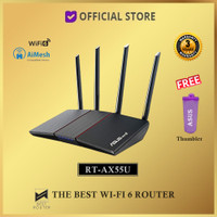ASUS RT-AX55U AX55 Wireless Router Dual Band AiMesh WiFi AX1800