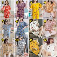 Baju Tidur Piyama Babydoll Murah / Setelan Piyama Impor HP / Wanita