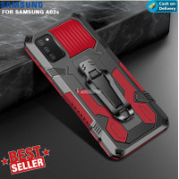 Case Samsung A02s Kickstand Shockproof Armor Heavy Full Body Protect