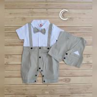 Jumper bayi laki laki baju kondangan romper tuxedo bayi