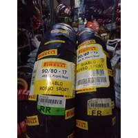 Paket ban pirelli diablo rosso sport uk 80 / 80 -17 dan 90 / 80 -17 TU